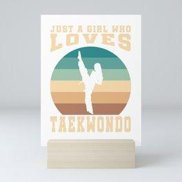 Girl Loves Taekwondo Mini Art Print