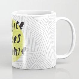 Practice Makes Awesome Geometric Typography design Coffee Mug
