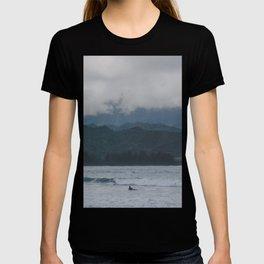 Lone Surfer - Hanalei Bay - Kauai, Hawaii T-shirt