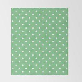 Sage Polka Dots Throw Blanket