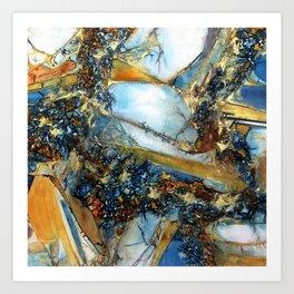 Agate Geode Art Print