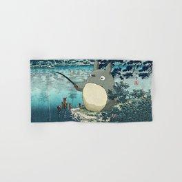 Japanese woodblock mashup Hand & Bath Towel