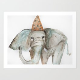 Elephant Sized Fun Art Print