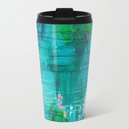 BLUE MONSOON - Stunning Rain Storm Dark Teal Clouds Navy Royal Blue Kelly Green Crimson Red Purple Travel Mug