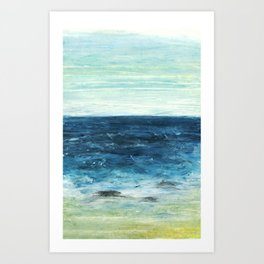 Horizon at the Baltic sea Art Print