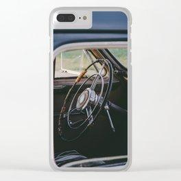 Vintage Steering Wheel Clear iPhone Case
