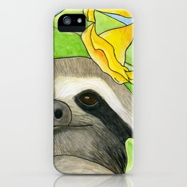 Tropical Sloth iPhone Case