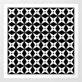 Geometric Pattern 247 (white crosses) Art Print