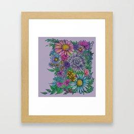 mind flowers Framed Art Print