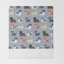 CANADIAN DOGS Throw Blanket
