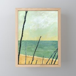 Branches on the Beach Framed Mini Art Print