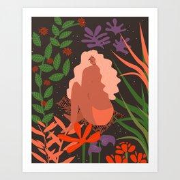 Girl in Botanic Garden Art Print