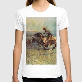 "Frederick Remington Western Art ""The Stampede"" T-shirt"