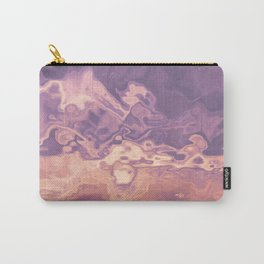 Gold violet pattern Carry-All Pouch