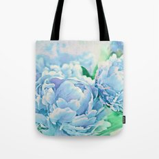Blue Mist Peonies Tote Bag