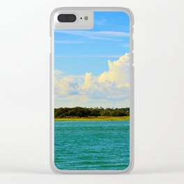 Gorgeous Blues Clear iPhone Case