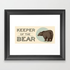 Keeper Of the Bear - For Dad Framed Art Print