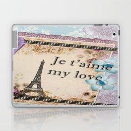 Vintage Paris Je t'aime  Laptop & iPad Skin