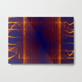 liquid glowing gold Metal Print