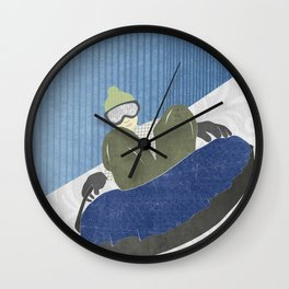 Snow Tubing Wall Clock