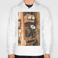 telephone Hoodies featuring Telephone by Imaginatio