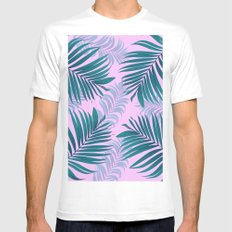 tropical Mens Fitted Tee MEDIUM White