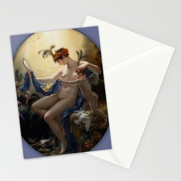 Anne-Louis Girodet de Roucy-Trioson - Portrait of Mademoiselle Lange as Danae (1799) Stationery Cards