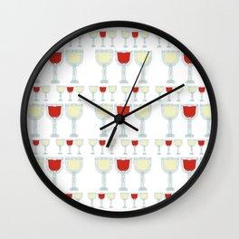 Wine Glass Pattern Wall Clock