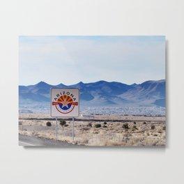 Arizona road sign Metal Print