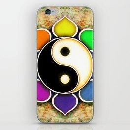 Yin Yang - Flower Rainbow Colors iPhone Skin