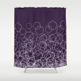 Icecube Purple Shower Curtain