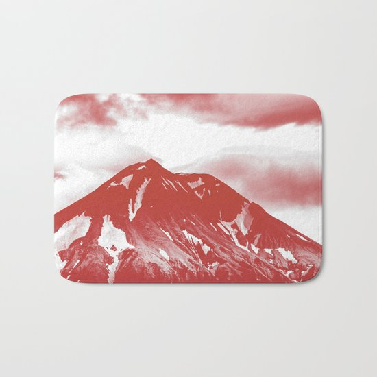 seeing red -mountain Bath Mat