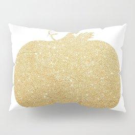 Gold Glitter Pumpkin Pillow Sham