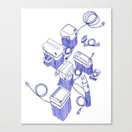 blue devices Canvas Print