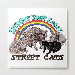 Street Cats Metal Print