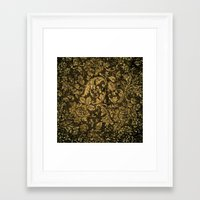 damask Framed Art Prints featuring Decorative damask by nicky2342