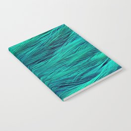 Teal Feathers Notebook