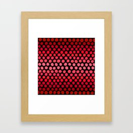 Juicy Red Apple Ombre Dots Framed Art Print