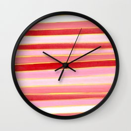 Lines - The colors of chinese year Wall Clock