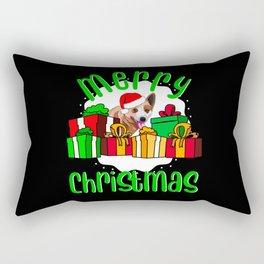 Australian Cattle Dog Merry Christmas Rectangular Pillow