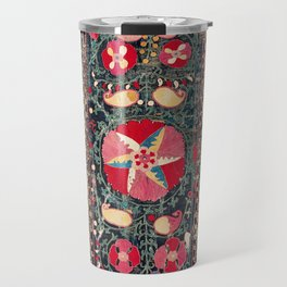 Shakhrisyabz Suzani Southwest Uzbekistan Embroidery Print Travel Mug