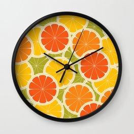 Orange, lemon and grapefruit Wall Clock