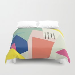 Shapes and Waves Duvet Cover