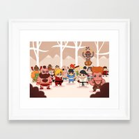 foo fighters Framed Art Prints featuring Street Fighters by Reuno