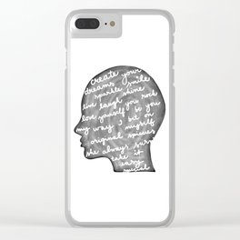 Positive words in my head Clear iPhone Case