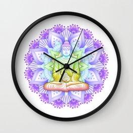 Color Mandala Wall Clock