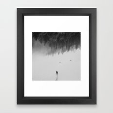 Silent Walk - B&W version Framed Art Print