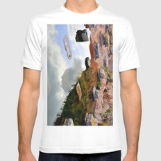 ruins of solunto Sicily Mens Fitted Tee White SMALL