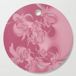 Pink Fractal Flowers Cutting Board