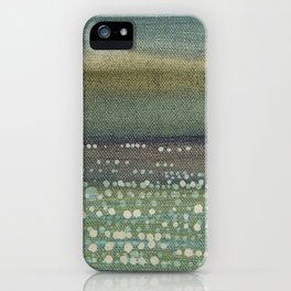 Landscape Dots- Blue iPhone Case